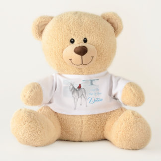 Unicorn magic winter teddy bear