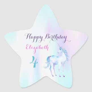 Unicorn Magical Rainbow Lavender Pink Turquoise