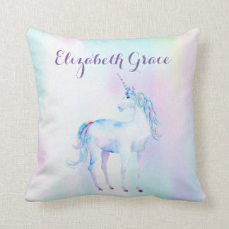 Unicorn Magical Rainbow Lavender Pink Turquoise Pillows