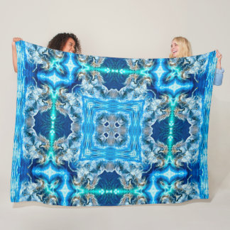 Unicorn Magical Spirit Mandala Fleece Blanket