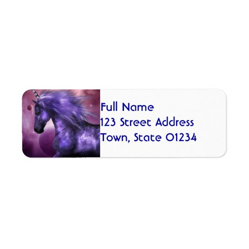 Unicorn Mailing Labels