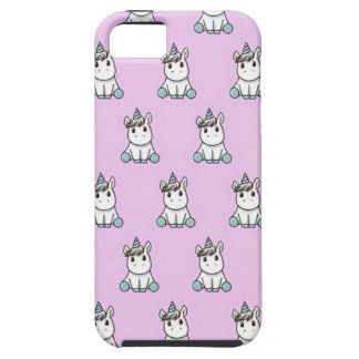 Unicorn marries with pink background iPhone 5 case