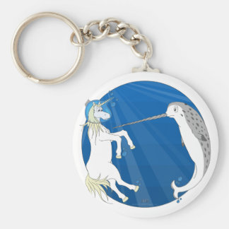 Unicorn Meets Narwhal Keychain