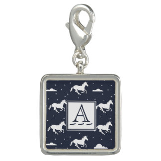 Unicorn Midnight Sky Pattern Photo Charm