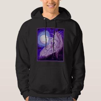 Unicorn Moon Purple Blue Cloud Heavenly Light Hoodie