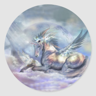 Unicorn Of Peace Art Sticker