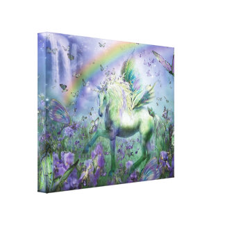 Unicorn Of The Butterflies Fine Art  Canvas Print