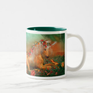 Unicorn Of The Roses Art Mug