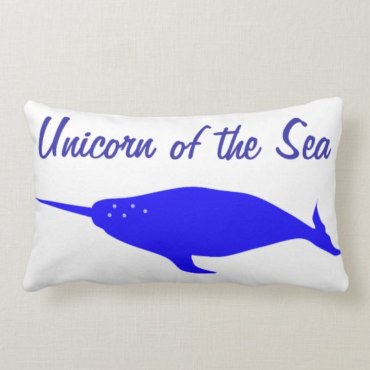 Unicorn of the Sea Lumbar Pillow