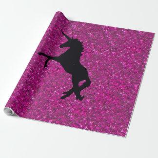 Unicorn on sparkling glitter print