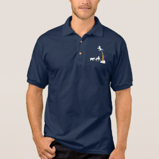 Unicorn origin polo shirt