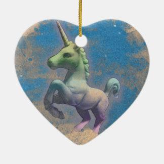 Unicorn Ornament - Heart (Sandy Blue)