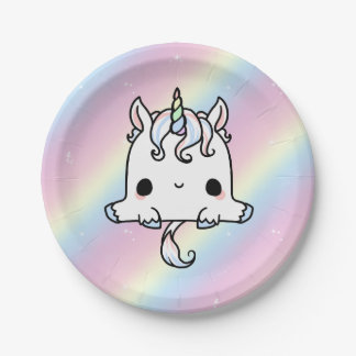 Unicorn Paper Plates (Customize) 7 Inch Paper Plate