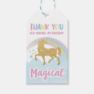 Unicorn Party Favor Tags Pack Of Gift Tags