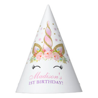 Unicorn Party Hat Floral Unicorn Birthday Party