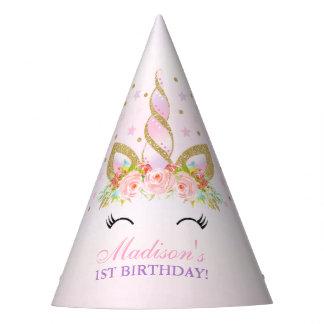 Unicorn Party Hat Floral Unicorn Birthday Party