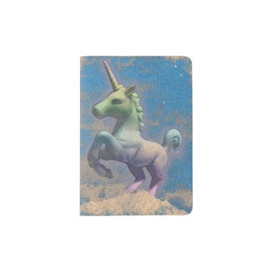 Unicorn Passport Holder Cover (Sandy Blue)