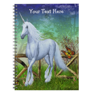 Unicorn Pasture Gate Fantasy Horse Notebook