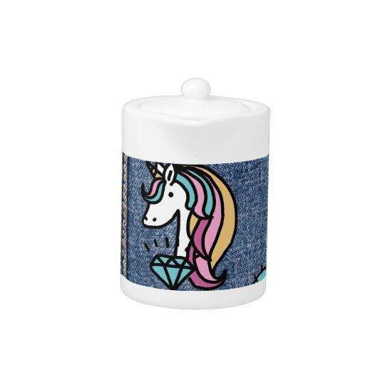 unicorn patches denim