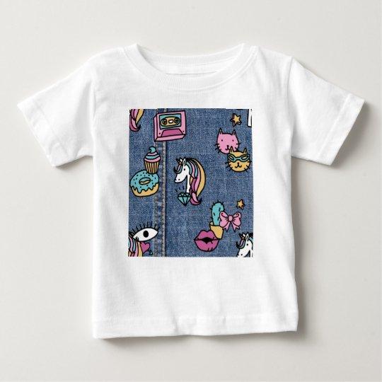 unicorn patches denim baby T-Shirt