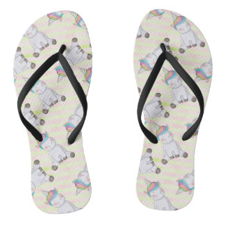 Unicorn Pattern Flip Flops