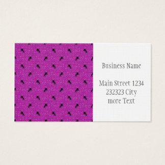 unicorn pattern pink business card