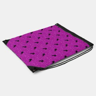 unicorn pattern pink drawstring bag