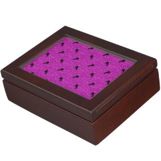 unicorn pattern pink keepsake box