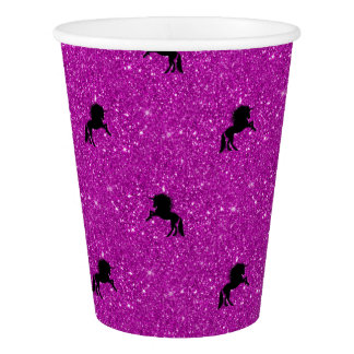 unicorn pattern pink paper cup