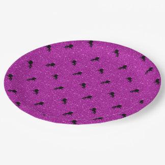 unicorn pattern pink paper plate