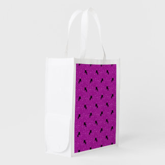 unicorn pattern pink reusable grocery bag