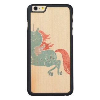 Unicorn Pegasus Carved® Maple iPhone 6 Plus Case
