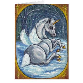 UNICORN PEGASUS FOAL Winter Note Card
