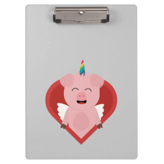 Unicorn Pig with Angelwings Z2h5i Clipboard