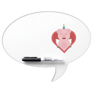Unicorn Pig with Angelwings Z2h5i Dry-Erase Whiteboard