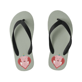 Unicorn Pig with Angelwings Z2h5i Kid's Flip Flops