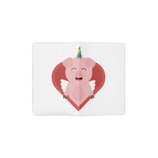 Unicorn Pig with Angelwings Z2h5i Pocket Moleskine Notebook