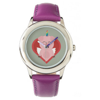 Unicorn Pig with Angelwings Z2h5i Watch