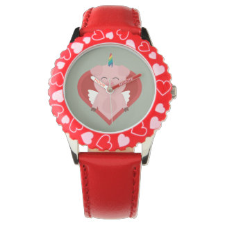 Unicorn Pig with Angelwings Z2h5i Watches