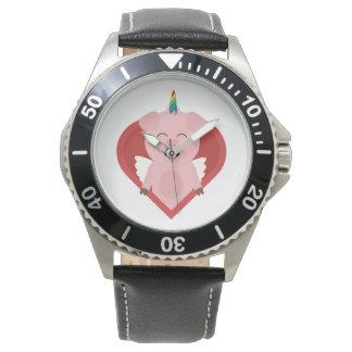Unicorn Pig with Angelwings Z2h5i Wrist Watch