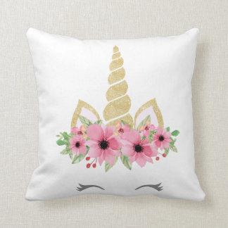 Unicorn Pillow, Unicorn Glitter Pillow