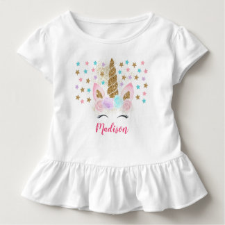 Unicorn Pink & Gold Magical Birthday Toddler T-shirt
