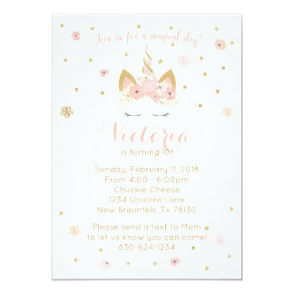 Unicorn Pinks 5X7 Invitation