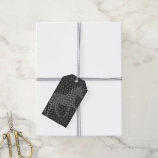 unicorn pixelated B & W Gift Tags