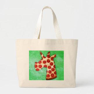 Unicorn Pizza Large Tote Bag