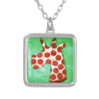 Unicorn Pizza Silver Plated Necklace