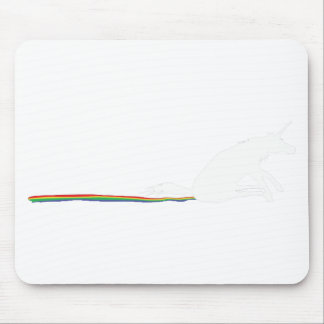 unicorn poo mouse pad
