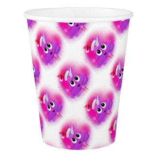 Unicorn Poop Santa Emoji Spray Paint Paper Cup