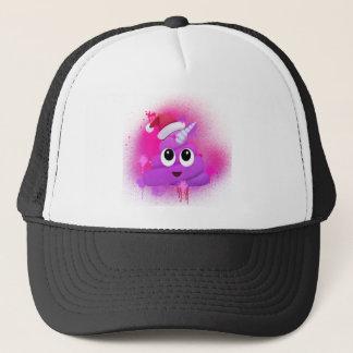 Unicorn Poop Santa Emoji Spray Paint Trucker Hat