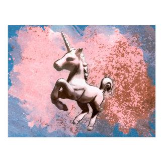 Unicorn Post Card (Faded Sherbet)